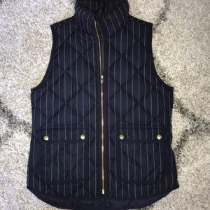 JCREW STRIPED NAVY AND WHITE VEST!!!